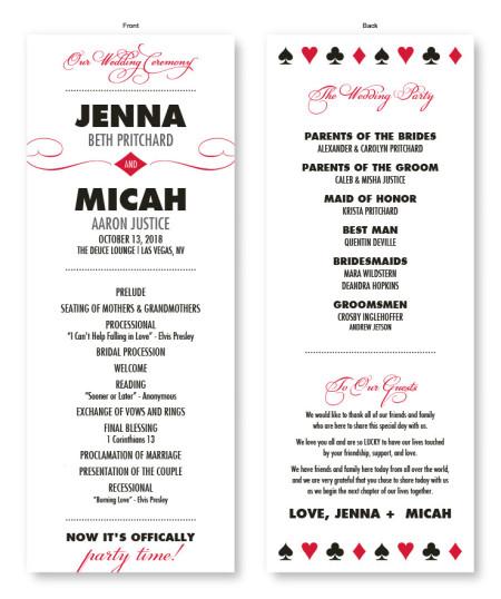 Vegas Wedding Program