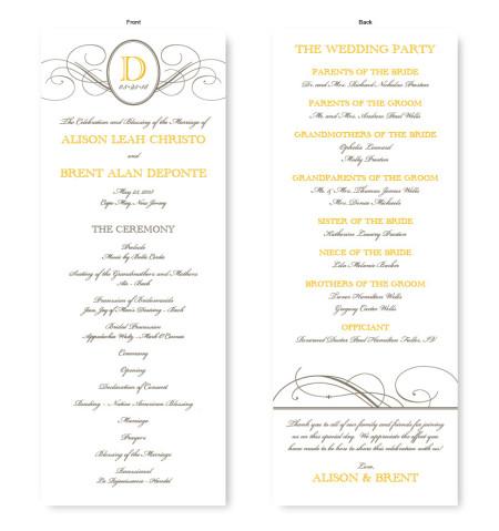 Elegance Wedding Program