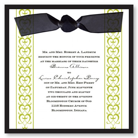 A Formal Affair Heart Wedding Invitations