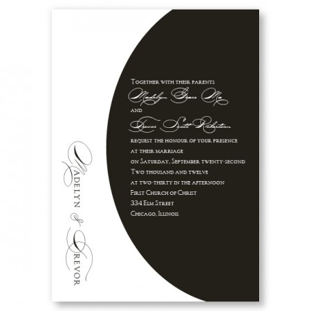 A La Mode Black and White Wedding Invitations