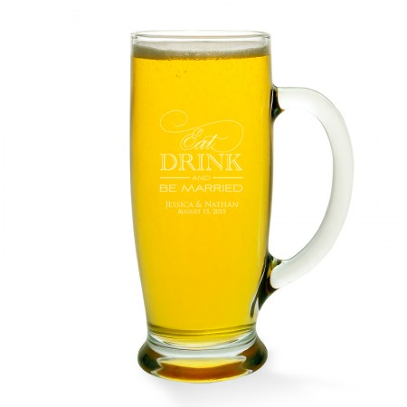 Eat Drink and Be Married Beer Mug