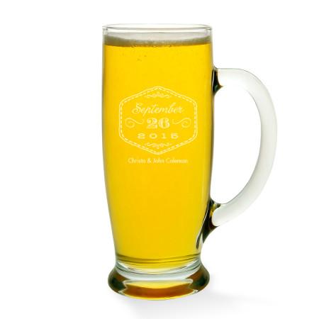 Love Never Fails Beer Mug