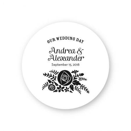 Floral Custer Round Coasters