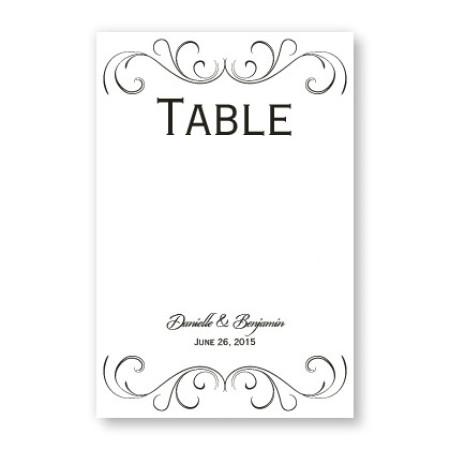 Striking Flourish Table Cards