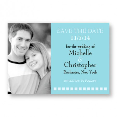 Horizontal Photo Save The Date Magnets SAMPLE