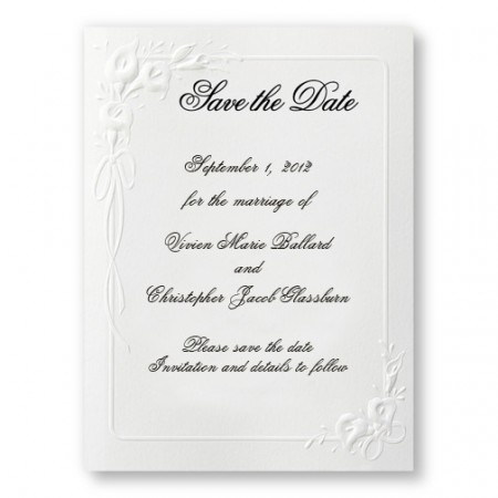 Calla Lily Save The Date Cards SAMPLE