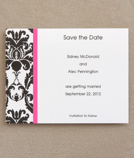 Victoria Save The Date Cards SAMPLE