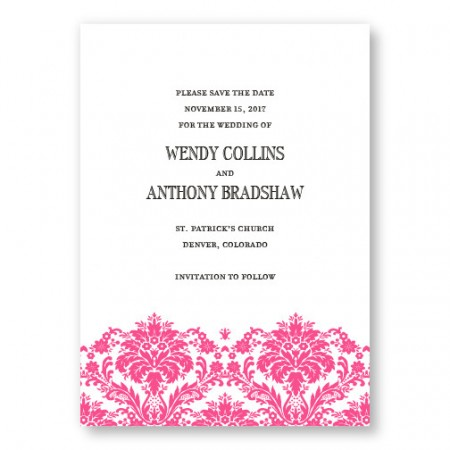 Dramatic Damask Letterpress Save the Date