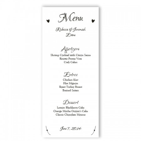 Initial Menu Cards SAMPLE