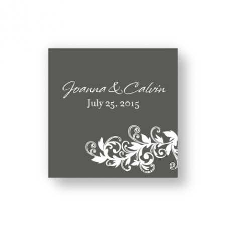 Flowering Vines Favor Tags
