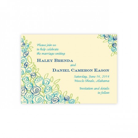 Colorful Cluster Save The Date Cards