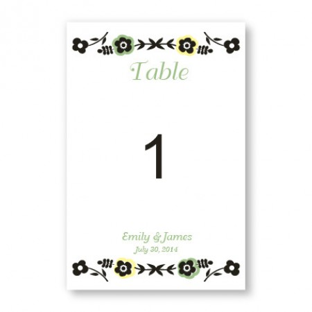 Fresh Beginnings Table Cards