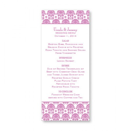 Ornately Yours Menu Cards