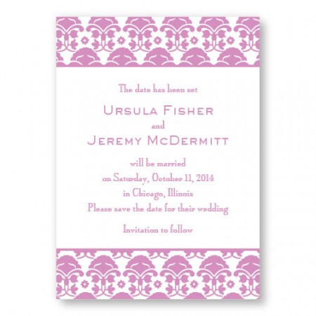 Ornately Yours Save The Date Cards