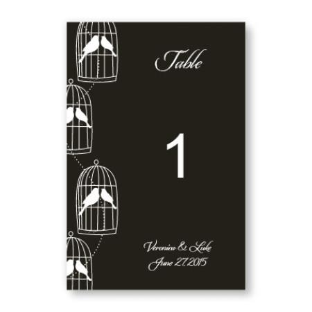 Loving Birds Table Cards