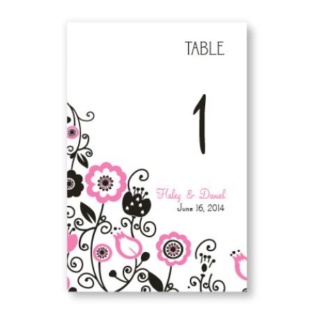 Floral Elegance Table Cards