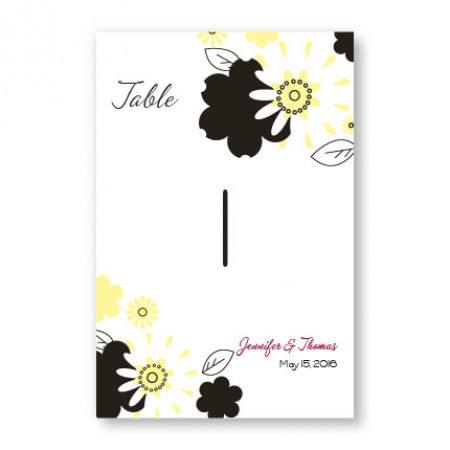 Flowers for the Bride Table Cards