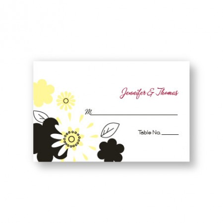 Flowers for the Bride Seating Cards