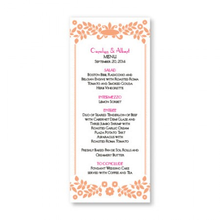 Vintage Frame Menu Cards