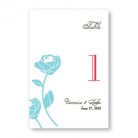 Roses are Forever Table Cards