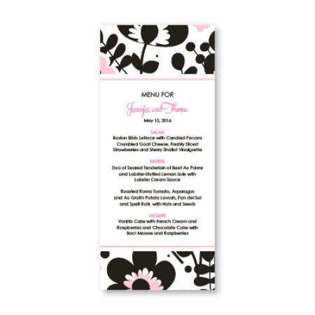 Flower Garden Menu Cards