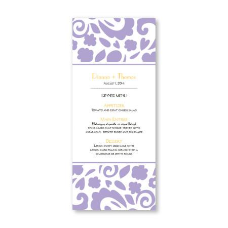 Divine Elegance Menu Cards