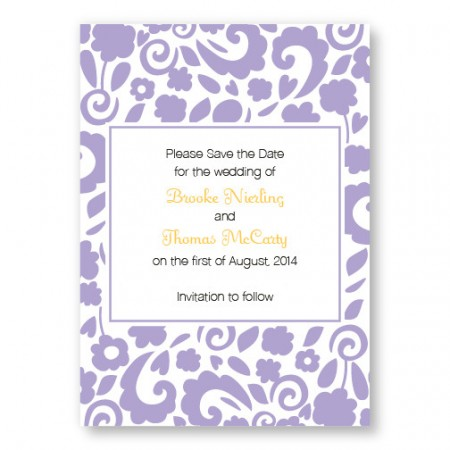 Divine Elegance Save The Date Cards