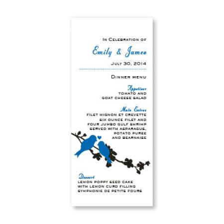 Wings of Love Menu Cards