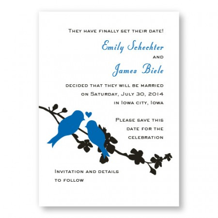 Wings of Love Save The Date Cards
