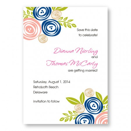 Touched with Roses Save The Date Cards