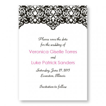 Simply Elegant Save The Date Cards
