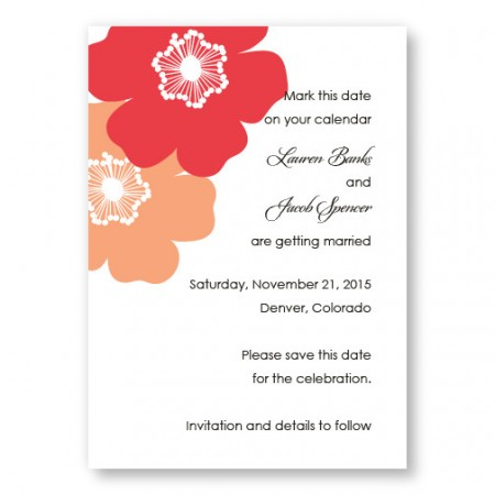 Matchless Beauty Save The Date Cards