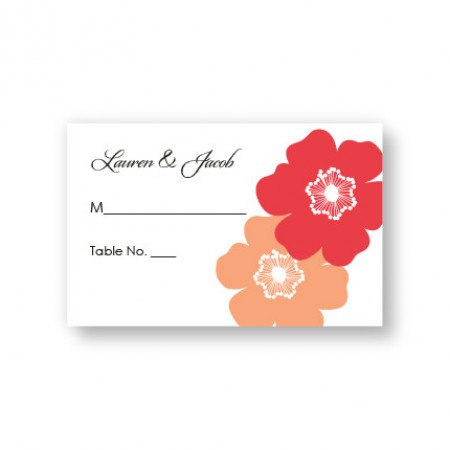 Matchless Beauty Seating Cards