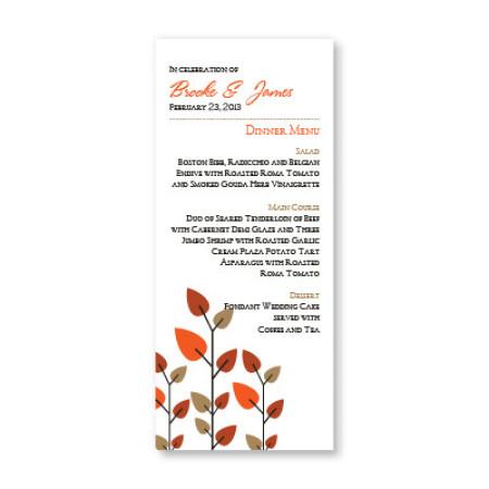 Leaves of Love Menu Cards