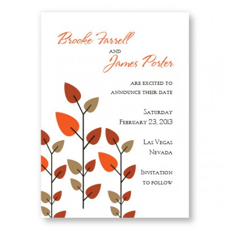 Leaves of Love Save The Date Cards