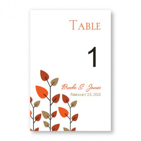 Leaves of Love Table Cards