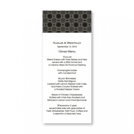 Buckingham Menu Cards