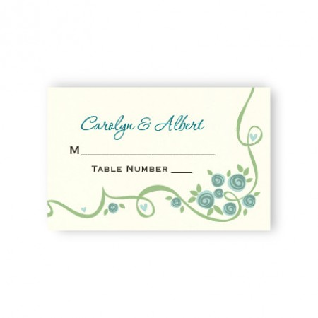 Dazzling Vine Seating Cards