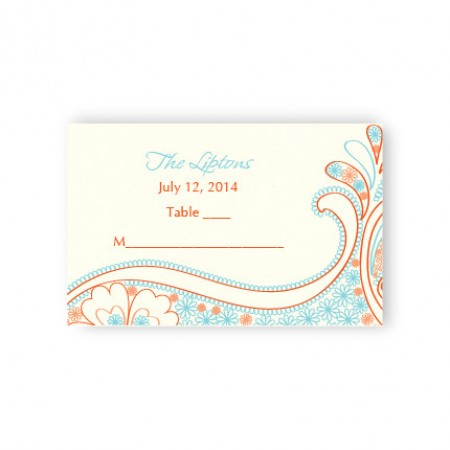 Paisley Perfection Seating Cards