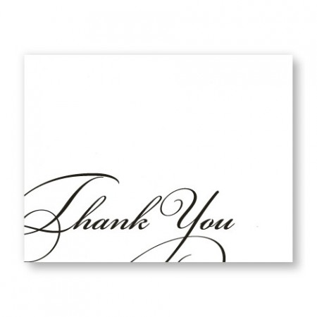 Script Letterpress Thank You SAMPLE