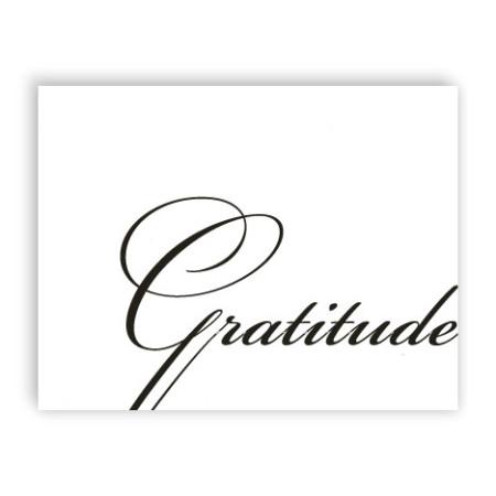 Gratitude Letterpress Thank  You Cards