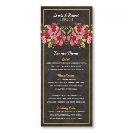 Tatum Menu Cards