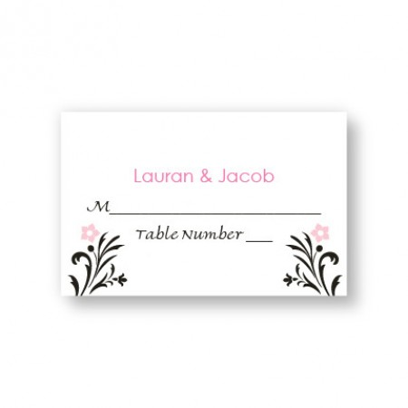 Floral Allure Seating Cards