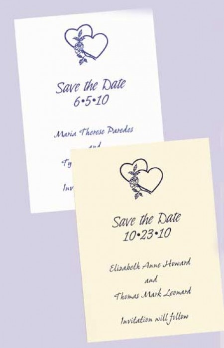 Design Your Own Save The Date Cards SAMPLE