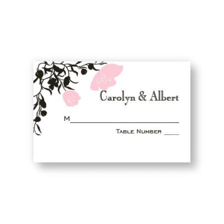 Romantic Petals Seating Cards
