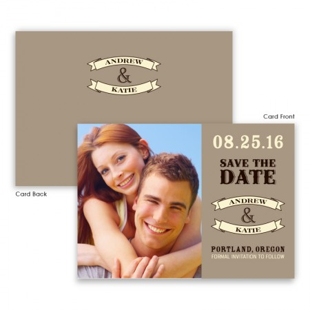 Marie Photo Save the Date SAMPLE