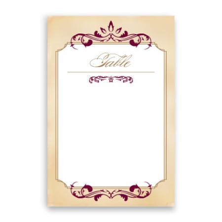 Greta Table Cards