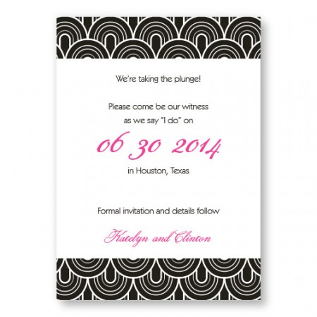 Delicately Bordered Save The Date Cards