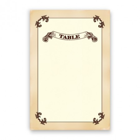 Cadence Table Cards