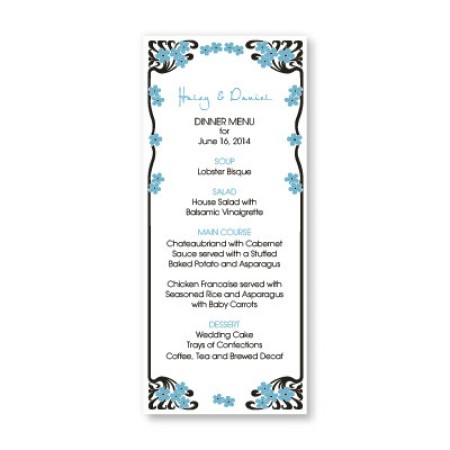 Framed in Love Menu Cards
